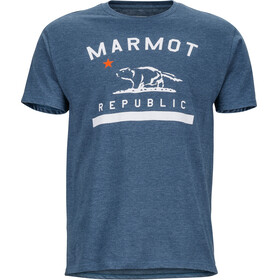 Marmot M's Republic SS Tee Navy Heather